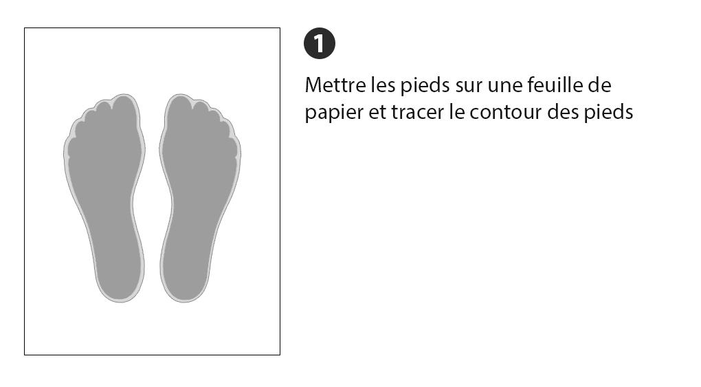 42e81d19c095b3 Les pieds peuvent être différents, il est donc préférable de mesurer les  deux pieds pour choisir les chaussures pour le plus grand.